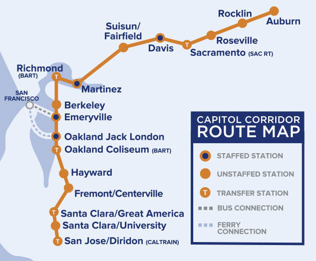 Capitol Corridor Map Roseville, CA (RSV) Train Station Hours, Tickets, Parking