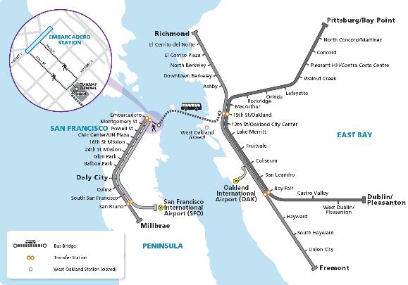 Capitol Corridor Map on