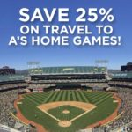 25% Off Travel to A's Games