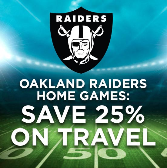 Save on Raiders Home Game Travel