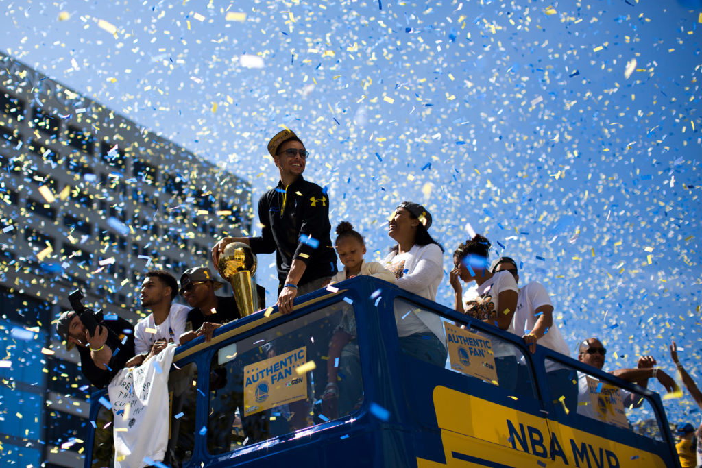 Warriors Parade In Downtown Oakland Tuesday June