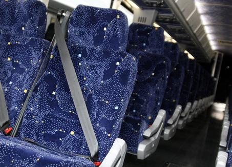 Bus seat belts
