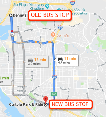 New Vallejo Bus Stop