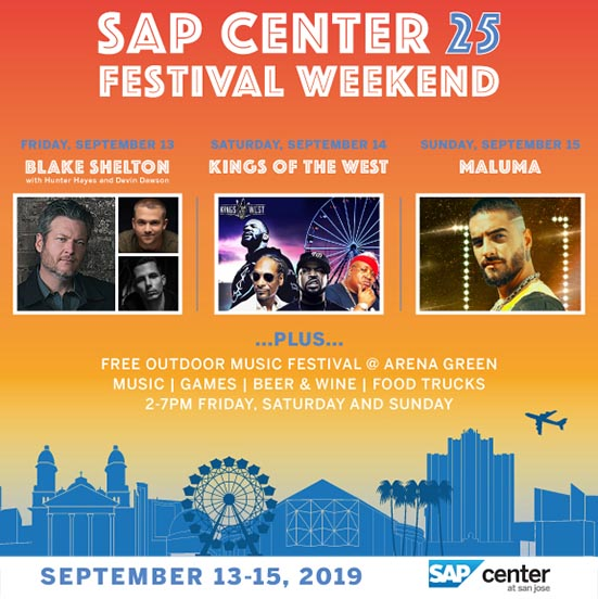 SAP Center Festival Weekend
