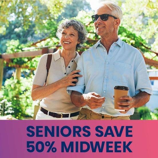 Seniors Save 50% on Midweek Travel