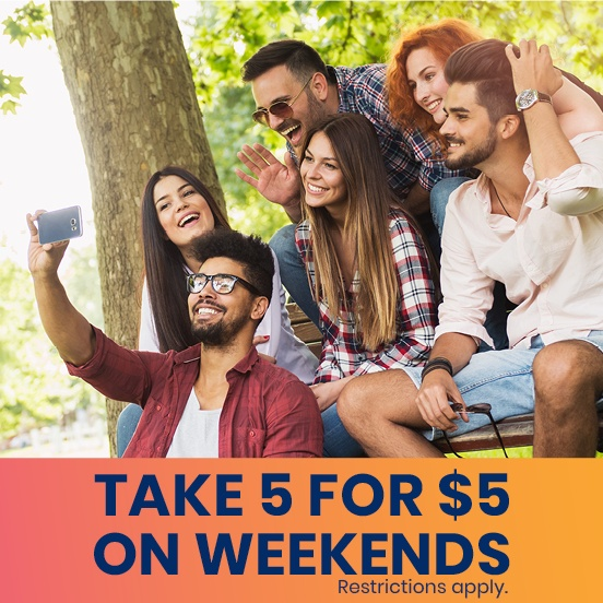 Take Five Companion Fares on Weekends