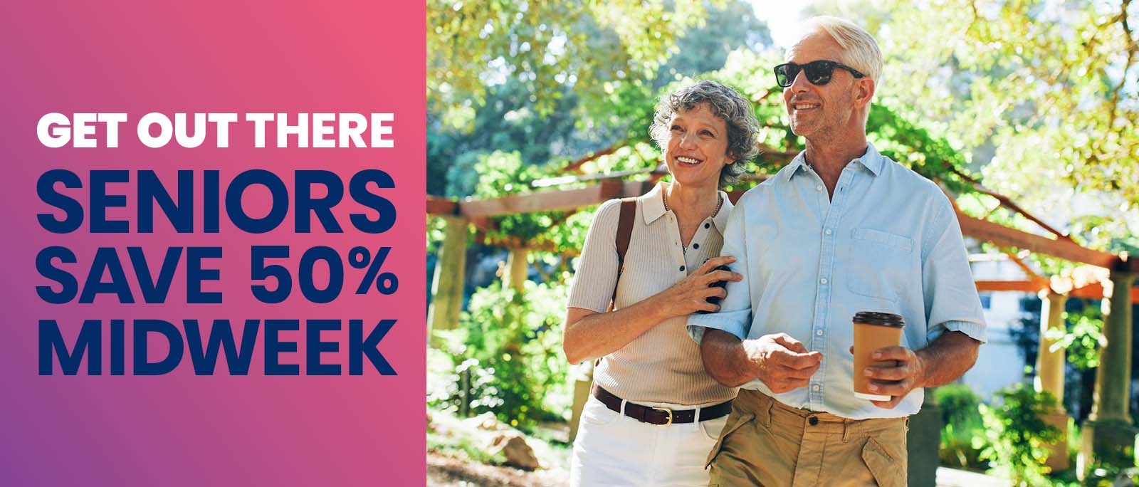 Half-off fares for seniors age 62 and over